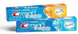 zubní pasty Crest